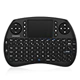 Bqeel Mini Wireless Keyboard Mini Tastatur mit Touchpad Maus (92 Keys Englische Layout QWERTY) /...