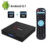 Greatlizard Android TV Box Android 8.1 Smart TV Box 4GB RAM 32GB ROM BT 4.1 RK3328 Quad-core 4K Full...