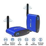 Wireless AV Extender Set, 480P WiFi 5,8 GHz 24 Kanäle AV Sender Receiver /Transmitter und...