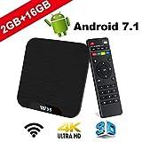 Smart TV BOX Android 7.1 - VIDEN W2 Mini TV Box 2018 Neueste Amlogic S905W Quad Core Prozeßor, 2G...