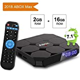 Android TV Box 7.1, ABOX A1 Max 64 Bit Viererkabel-Kern Intelligenter Fernsehkasten Amlogic S905w...