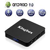 Kingbox Android 9.0 TV Box K4S TV Box 4GB RAM+32GB ROM Quad Core mit 2.4G WiFi 3D/ 4K/ 100 LAN /...