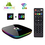 Greatlizard Q Plus Android 9.0 TV Box 4 GB RAM 32 GB ROM Quad Core 6K 2,4 GHz WiFi Smart TV Box