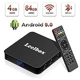 Android 9.0 TV Box - Leelbox Smart TV Box Q4 Plus 4 GB RAM & 64 GB ROM, Quad Core 64 bit Android Box...