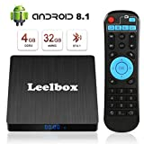 Android 8.1 TV Box - Leelbox Smart TV Box Q4 S 4 GB RAM & 32 GB ROM, Quad Core 64 bit Android Box...