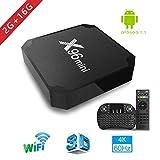 2018 Smart TV Box - Aoxun X96MINI Android 7.1 TV Box mit Mini Keyboard, 2GB DDR3 / 16GB EMCC, S905W...