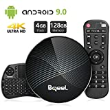 Bqeel Android TV Box Smart Box mit Tastatur U1 MAX【4G+128G】 Android 9.0 TV Box mit RK3328...