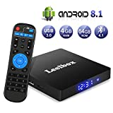 Android 8.1 TV Box【4G+64G】- Leelbox Smart TV Box Q4 MAX, Quad Core 64 Bit Android Box Wi-Fi...
