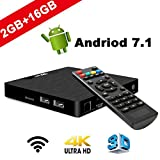 4K Android 7.1 TV Box – W95 Box 2018 Model T Smart TV Box with 2G RAM 16G ROM, Amlogic S905W Quad...