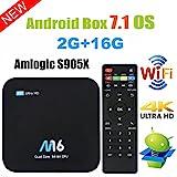 Android 7.1 TV Box - VIDEN Smart TV Box Amlogic S905X Quad Core, 2GB RAM & 16GB ROM, 4K*2K UHD...