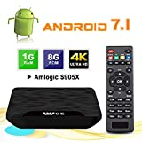 TV Box Android 7.1 - VIDEN W1 Smart TV Box Amlogic S905 W Quad Core, 1 GB RAM & 8 GB ROM, 4K*2K UHD...