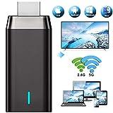 Wireless WiFi Display Dongle HDMI 4K, DIWUER 5G +2.4G Drahtlos Anzeigeempfänger Adapter,...