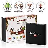 TV Box Android 8.1 Smart TV 4GB ROM+32GB RAM superpow MXQ PRO MAX S Quad-Core mit BT4.1/ 2.4Ghz WiFi...