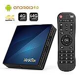 Android TV Box【4G + 64G】, NinkBox Android 9.0 TV Box N1 Max RK3318 Quad-Core 64bit Cortex-A53,...
