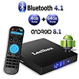 Android 8.1 TV Box - Leelbox Smart TV Box Q4 MAX 4 GB RAM & 64 GB ROM, Quad Core 64 bit Android Box...