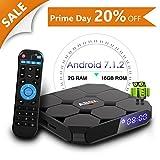 Android 7.1 TV Box, Abox A1 Max 64 Bit Viererkabel-Kern Intelligenter Fernsehkasten Amlogic S905w...