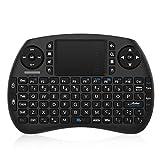 Bqeel 2.4GHz Wireless Mini Tastatur mit Touchpad, wiederaufladbarer Batterie, 92 Tasten, Scrollrad,...