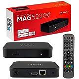 MAG 522w3 Original Infomir & HB-DIGITAL 4K IPTV Set TOP Box Multimedia Player Internet TV IP Receiver # 4K UHD 60FPS 2160p@60 FPS HDMI 2.0# HEVC H.256 Unterstützung # ARM...