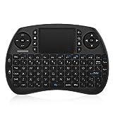 Bqeel Mini Wireless Keyboard Mini Tastatur mit Touchpad Maus (92 Keys Englische Layout QWERTY) /...