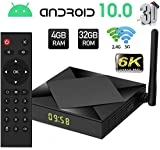 PUKEFNU Android 10.0 TV Box, TX6S 6K 2.4/5 GHz Dual-WiFi 4GB RAM 32GB ROM 3D Android Box H616 64-Bit...