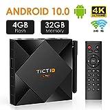 TICTID Android TV Box Android 10.0【4G+32G】 T6 Pro Smart tv Box Allwinner H616 64-bit Quad core/...