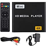 Varadyle 4K HD Digitaler Media Player, HDMI-Compatible USB-S/SPDIF Media Player Unterstützung TF...