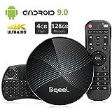 Bqeel Android TV Box Smart Box U1 MAX mit Tastatur【4G+128G】 Android 9.0 TV Box mit RK3328...