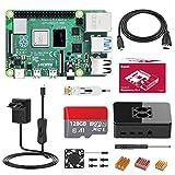 Bqeel Raspberry Pi 4 Model B 4GB+128GB Micro SD-Karte Ultimatives pi 4 Kit mit Quad-Core ARM-Cortex-A72/ unterstützt BT5.0/Gigabit-Ethernet/Dual Display 4K 60Hz,Upgraded für...