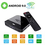 Android 9.0 Mini TV-Box H96 TV Box RK3328A Smart Media-Box 2 GB + 16 GB Support 4K 2.4/5G WiFi 3D...