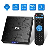 T9 Android TV-Box, Android 9.0, 4 GB RAM / 32 GB ROM, RK3318, Quad-Core, unterstützt 2,4 / 5 GHz...