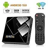 Android 10.0 TV Box 4G + 32G, NinkBox TV Box N1 Plus RK3318 Quad-Core 64bit Cortex-A53, unterstützt...