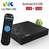 Android TV Box,T95 MAX Android 9.0 TV Box 2GB RAM/16GB ROM H6 Quad-Core Support 2.4Ghz WiFi 6K...