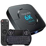 Android Tv Box 10.0, TV Box H616 4 GB RAM 32 GB ROM 2,4 G / 5,8 G Dualband WiFi mit Bluetooth 5.0 Konverter TV-Box Unterstützung 3D 4K 6K Ultra HD H.265 mit Mini-Tastatur...