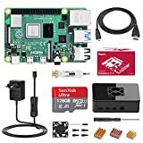 Bqeel Raspberry Pi 4 Model B 4GB+128GB Class10 Micro SD-Karte Ultimatives Kit mit Quad-Core ARM-Cortex-A72/ unterstützt BT5.0/Gigabit-Ethernet/Dual Display 4K 60Hz /Upgraded für...