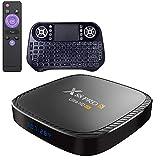 Android TV Box 10.0, Allwinner H616 [4G RAM+ 64G ROM] mit Dual 2.4G/5.8G WiFi, Bluetooth 5.0 UHD H.265 Ethernet LAN Unterstützung 3D 6K TV Box mit Hintergrundbeleuchtete Tastatur...