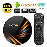 TICTID Smart TV Box【4GB+64GB】 Android TV Box TX6 Plus mit S905X3 Quad-Core Cortex-A55...