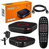 MAG 524 Original Infomir & HB-DIGITAL 4K IPTV Set TOP Box Multimedia Player Internet TV IP Receiver # 4K UHD 60FPS 2160p@60 FPS HDMI 2.0# HEVC H.256 Unterstützung # ARM Cortex-A53...