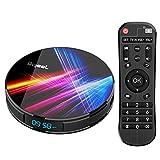 Bqeel Android TV Box 4K Smart tv Box【4G+32G】 R1 PRO Android 10.0 TV Box mit RK3318 Quad-Core 64bit Cortex-A53/ unterstützt WiFi 2.4G/5.0G /Bluetooth 4.0/ 4K/HD/ USB 3.0/H.265...
