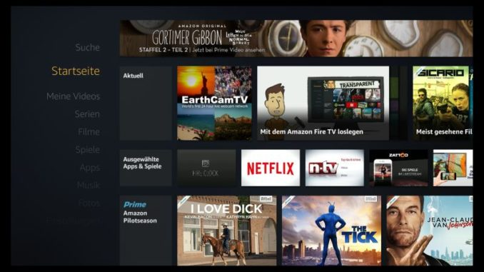 Amazon Fire TV Startseite