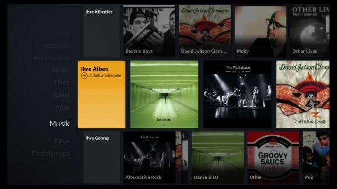 Eigene Musik über Amazon Fire TV hören