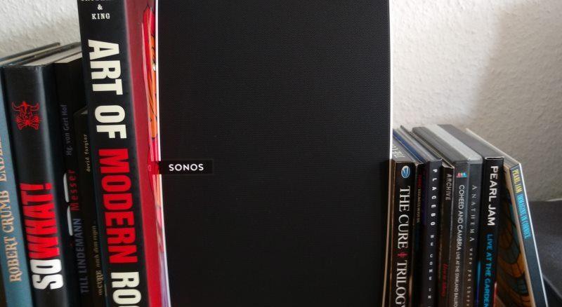 Der Sonos Play:5 im Arbeitszimmer