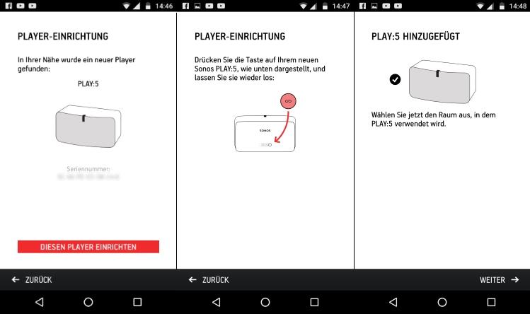 Sonos Play:5 Setup per App