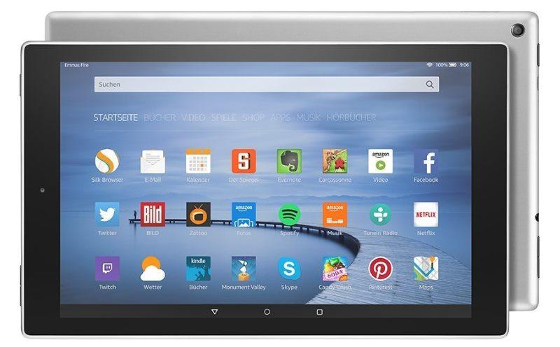 Amazon Fire HD 10 Tablet mit neuem Aluminium-Gehäuse in Silbermetallic