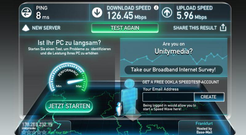 Ookla Internet-Geschwindigkeitstest