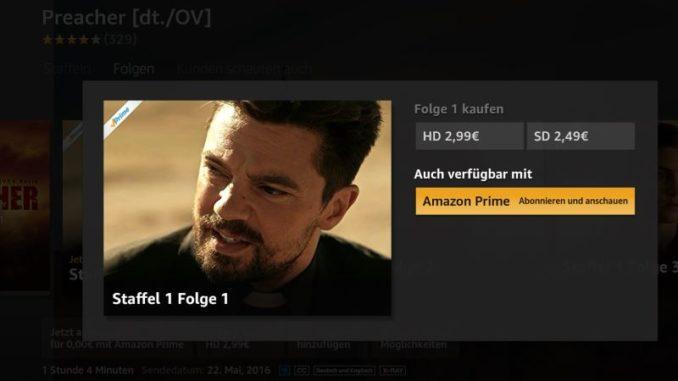 Aus Fire TV Amazon Prime Video abonnieren