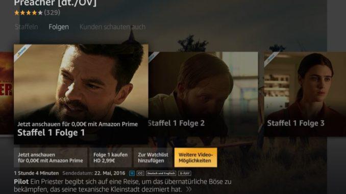 Weitere Video-Möglichkeiten bei Amazon Fire TV