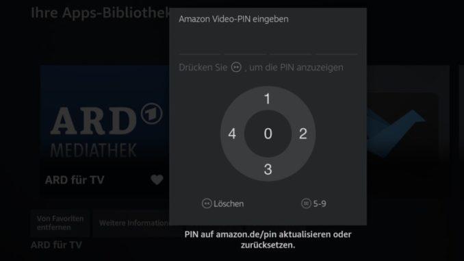 Fire TV: Zum Öffnen einer App muss die Kindersicherungs-PIN eingegeben werden