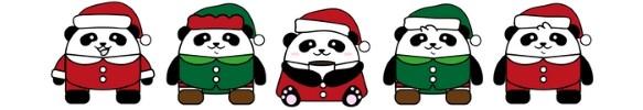 Weihnachts Pandas