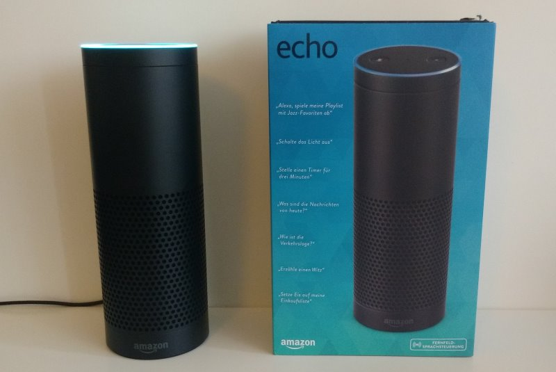 Amazon Echo mit Box