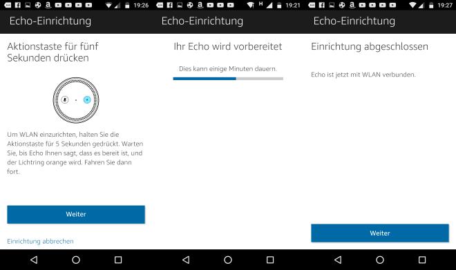 Amazon Echo mit der Alexa App einrichten